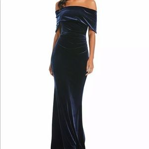 Vince Camuto Velvet Off The Shoulder Gown Dress